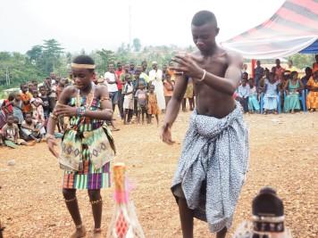 Kente traditional dancers