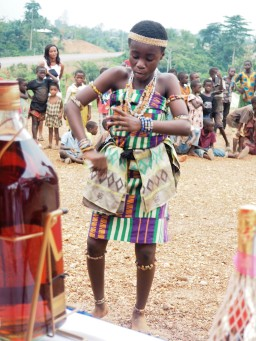Kente traditional dancer