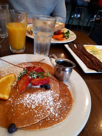 Sweet Maple pancakes and Millionaire bacon